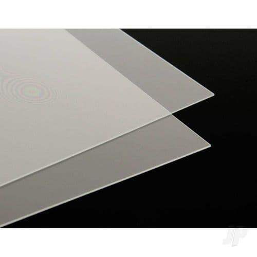 JP .030in 8.5x11in Clear Plastic Sheet (2 pcs) KNS1310